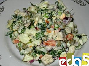 мясной салат со свининой рецепт