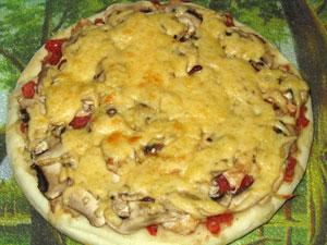 С грибами и куриным мясом рецепт с